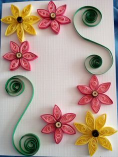 Quilling Flowers - Greeting Card