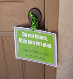 @ Tiffany: Kids can't play sign for the front door. Maybe use red instead.