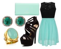 """""""Untitled #907"""" by pinkunicorn007 ❤ liked on Polyvore featuring Kate Spade and Red Circle"""
