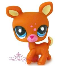 ✵Littlest Pet Shop✵1759✵BROWN & PINK DEER✵DOE✵GIRL FAWN✵BLUE EYES✵CHRISTMAS GIFT
