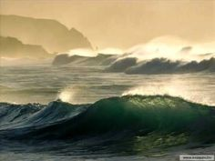 Images of sea and ocean waves No Wave, Ocean Wallpaper, Nature Wallpaper, Green Ocean, Time And Tide, Living Water, Earth From Space, Sea Waves, Sea And Ocean