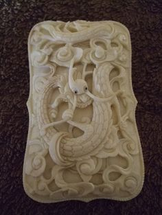 A Rare Deep Carved Chinese Ivory Card Case