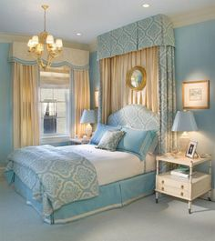 my dream blue bedroom. I love the colors