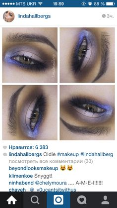 Purple-brown makeup