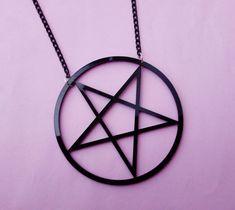 Nu goth pentagram necklace ☽☽ www.etsy.com/shop/OfStarsAndWine ☽☽ pastel goth gothic jewelry