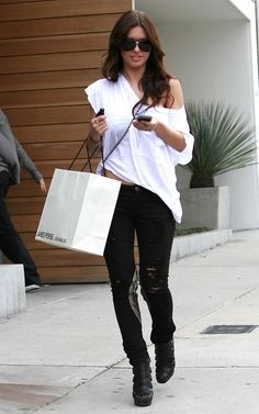Audrina in Unknown Factory Studded Biker Jean - Look 2