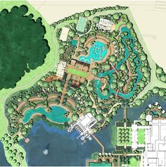 Master Plan of amenity island