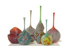 Elemental Series Bottles by David Royce: Art Glass Vessel available at www.artfulhome.com