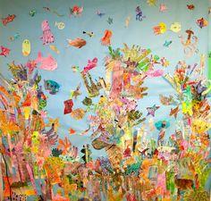 Coral reef mural - so much fun!