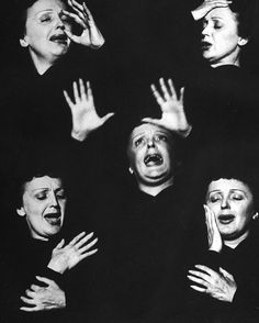 «December 19, 2015 marks the 100th anniversary of the birth of the great french singer Edith Piaf. Here she is pictured in a montage of expressions from…»