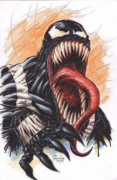 #Venom #Fan #Art. (Venom) By: Premiroklase. (THE * 5 * STÅR * ÅWARD * OF: * AW YEAH, IT'S MAJOR ÅWESOMENESS!!!™)[THANK Ü 4 PINNING!!!<·><]<©>ÅÅÅ+(OB4E)