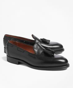 Smooth calfskin leather uppers. Leather lining and soles. Made in USA.