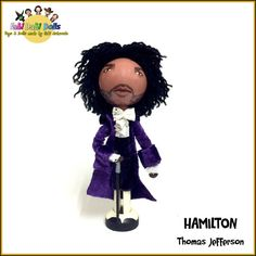 Thomas Jefferson Peg Doll from Hamilton the Musical
