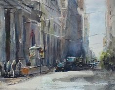 """San Francisco Tidbit"" original watercolor painting by Julie Hill (8"" x 10"") $95"