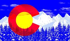 "3 25"" Colorado Rocky Mountain High Vinyl State Flag Bumper Sticker for Your Car 