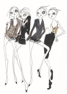 Fashion illustration - stylish fashion sketches // Gatto Bravo