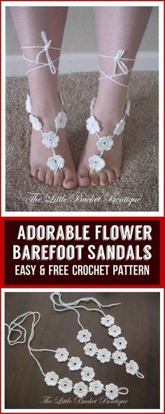 Check out this heart melting collection of free crochet barefoot sandals pattern and crochet best of the patterns for yourself this summer or spring! Diy Barefoot Sandals, Barefoot Sandals Pattern, Bare Foot Sandals, Beach Sandals, Crochet Sandals, Crochet Shoes, Crochet Dolls Free Patterns, Free Crochet, Irish Crochet