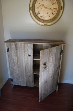 Recycled Wood Cabinet. Large Wood Storage by TRUECONNECTION
