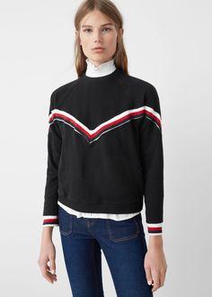 Contrast trim sweatshirt - Sweatshirts for Woman | MANGO USA