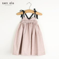 Style Style: Dress Color: Stone pink * cotton chambray * Fit: True to size * Pre-washed/shrunk * Elastic band at chest * Adjustable cotton shoulder straps * Handmade in USA Baby Girl Dress Patterns, Baby Dress, Little Girl Dresses, Girls Dresses, Vintage Kids Fashion, Kids Wardrobe, Cute Outfits For Kids, Making Ideas, Kids Fashion