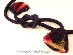 帯締 菊房 (ムラサキ)