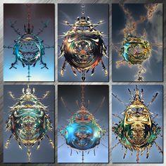 Fractal Art, Fractals, Rendering Software, Ancient Aliens, Color Tattoo, Fantasy Art, Digital Art, 3d, Artwork