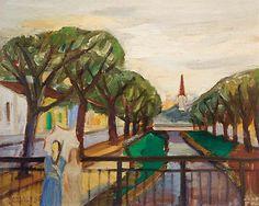 Mario Zanini Painter | Paisagem com riacho