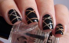 Black and gold geometric