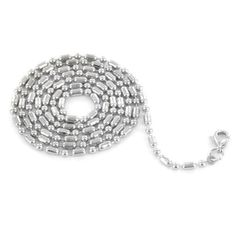 Special Price! 24 Inch 2.4mm Wide Stainless Steel Ball-Bar Chain with Lobster Clasp West Coast Jewelry. $3.95