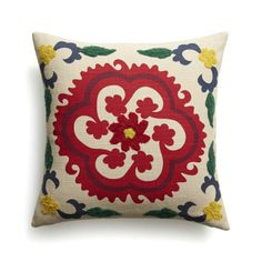 """Adestes 18"""" Pillow with Feather-Down Insert    Crate and Barrel"""