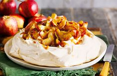 For an easy dessert recipe try this beautiful pavlova topped with baked apples and indulgent salted caramel sauce. A scrumptious autumn dessert that will definitely impress your guests and a brilliant way to make the most of crisp, seasonal Gala apples.