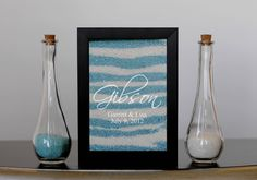 Unity Sand Frame with Engraving. $67.00, via Etsy.