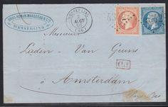 FRANCE 1866. N°22+N°23  BELLE LETTRE DE WESSERLING POUR AMSTERDAM. TB  B91