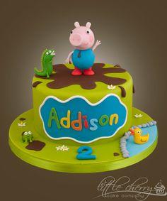 George Pig muddy puddles cake