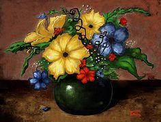 """""""Happy Flowers"""" by Terry Webb Harshman"""