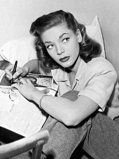 Lauren Bacall read and write a lot