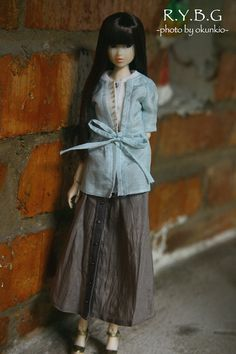 Creazione di RYBG bianche crema camicie blu Momoko o di okunkio