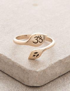 Kundalini Bronze Om Ring
