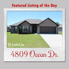 Featured Listing of the Day: 4809 Ocean Dr.  Contact the #1 real estate team in Jonesboro today and #JoinUs in the search for your dream home!   #burchandco #realestate #realtor #arkansas #jonesboro #jonesbororealestate #arkansasrealestate #property #forsale #houseforsale #listingoftheday #featured #home #buy #buyrealestate #newhome  #househunting