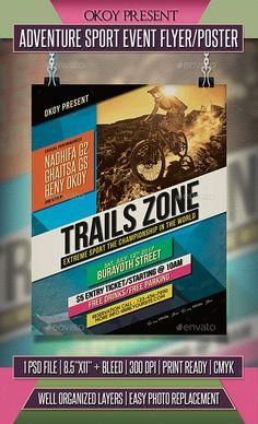 The 176 best sport flyer templates images on pinterest in 2018 adventure sport event flyer poster template psd maxwellsz