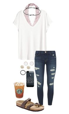 """Untitled #601"" by shelbycooper ❤ liked on Polyvore featuring Free People, H&M, J Brand, Birkenstock, Sole Society and Pluie"