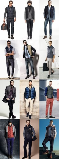 I have no idea what a Gilet is.. but I love a good vest! Men's Gilets - Transitional Season Outfit Inspiration Lookbook