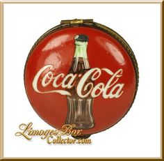 Coca Cola Bottle Advertising Limoges Box - RARE