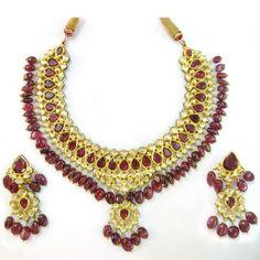 Real Polki Jewelry | ... polki jewellery Difference between Real & Imitation polki Jewellery