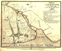 Plan of Liverpool in 1560