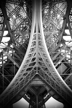 eiffel tower close up.