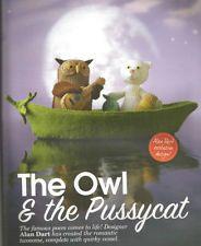 ALAN DART OWL AND PUSSYCAT - TOY KNITTING PATTERN Alan Dart, The Pussycat, Winnie The Pooh, Free Pattern, Knitting Patterns, Disney Characters, Fictional Characters, Owl, Knit Patterns
