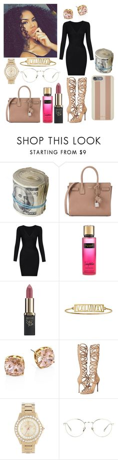 """""""Untitled #267"""" by xx-un-dimpled-xx on Polyvore featuring Yves Saint Laurent, Victoria's Secret, L'Oréal Paris, Mark & Graham, Tory Burch, Sergio Rossi, Betsey Johnson, Linda Farrow and Michael Kors"""