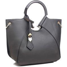 FC Vegan Bags New Vegan Hoop Handle Bag (£59) ❤ liked on Polyvore featuring bags, handbags, tote bags, vegan leather tote, man bag, vegan tote, purse tote and vegan purses