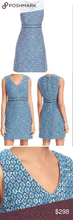 DIANE von FURSTENBERG V-Neck Sheath Leelou Dress DIANE von FURSTENBERG V-Neck Sheath Leelou Dress  BRAND: Diane von Furstenberg SIZE: 12 COLOR: Atlantis Blue Multi MATERIAL:  ••• Shell: 77% cotton, 13% acrylic, 10% polyester ••• Lining: 84% polyester 16% spandex CARE: Professional Dry Clean only CONDITION: NEW with tags MSRP: $498 DETAILS: Tweedy sheath designed. Seamed at high waist. Invisible back-zipper closure. V-neckline. Sleeveless. Side-seam pockets. Lined, Stretch fabric lining. Made…